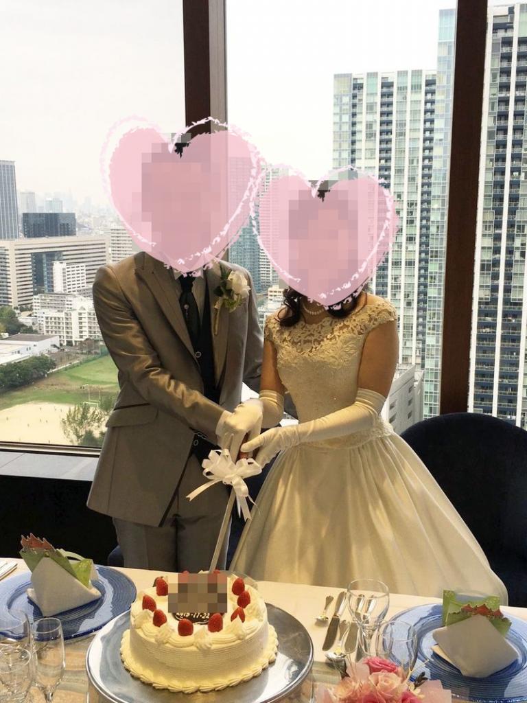 結婚披露宴の記念写真