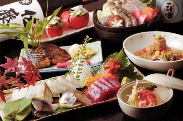和食レストランでデート